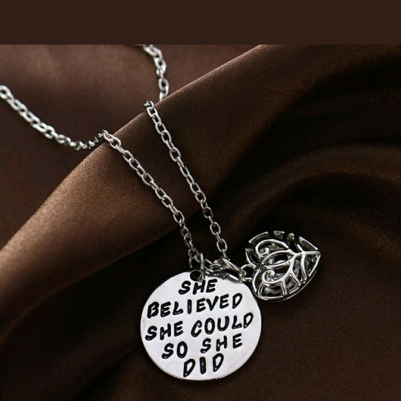 Jewelry - 5 for $35! She believed...she did necklace w heart